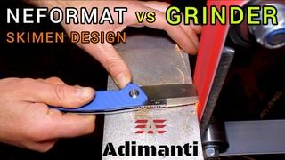"Experiment: NEFORMAT vs GRINDER    Adimanti ""GANZO"" Knife"