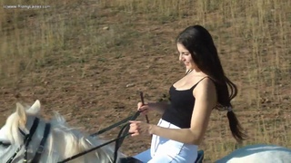 Hot Ride From A sexy Girl On Horse