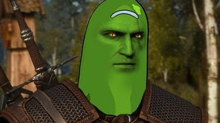 Geralt talks about pickle Rick