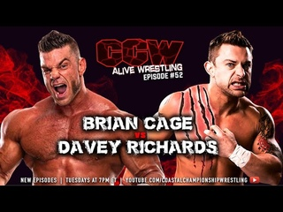 """CCW Alive Wrestling: Episode  """"Brian Cage vs. Davey Richards"""" feat. Christi Jaynes and Lakay."""