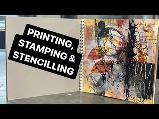 5 of the BEST surface texture ART TECHNIQUES [mix media & collage] printing/stamping/stencilling