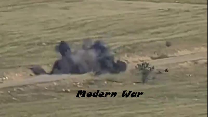 Кадры поражения ББМ Боевая Бронированная Машина азербайджанских ВС расчётом ПТРК НКР