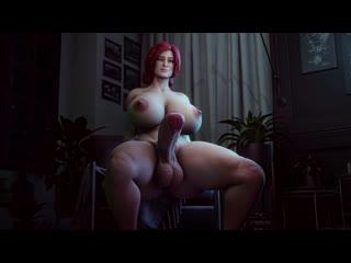 (No sound)Triss Merigold futanari solo [The Witcher 3;Porn;Hentai;Dickgirl;R34;Sex;Blender;порно;секс;футанари;соло;ведьмак]