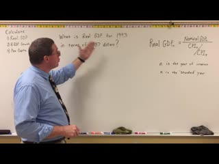 Examples for Calculating Real GDP, Growth, and Per Capita - Professor Ryan