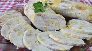 Куриная колбаса с сыром в духовке. Муж превратился в котика, когда ел колбаску. Еда для диабетика 2