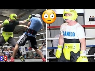 FOOTAGE: 😳CANELO ALVAREZ GETS ROCKED IN SPARRIN FOR PLANT, TALKS TRASH & THROWS VICIOUS BODY PUNCH
