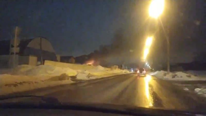 пожар горение автомобиля на улице Сыртлановой города Белебей