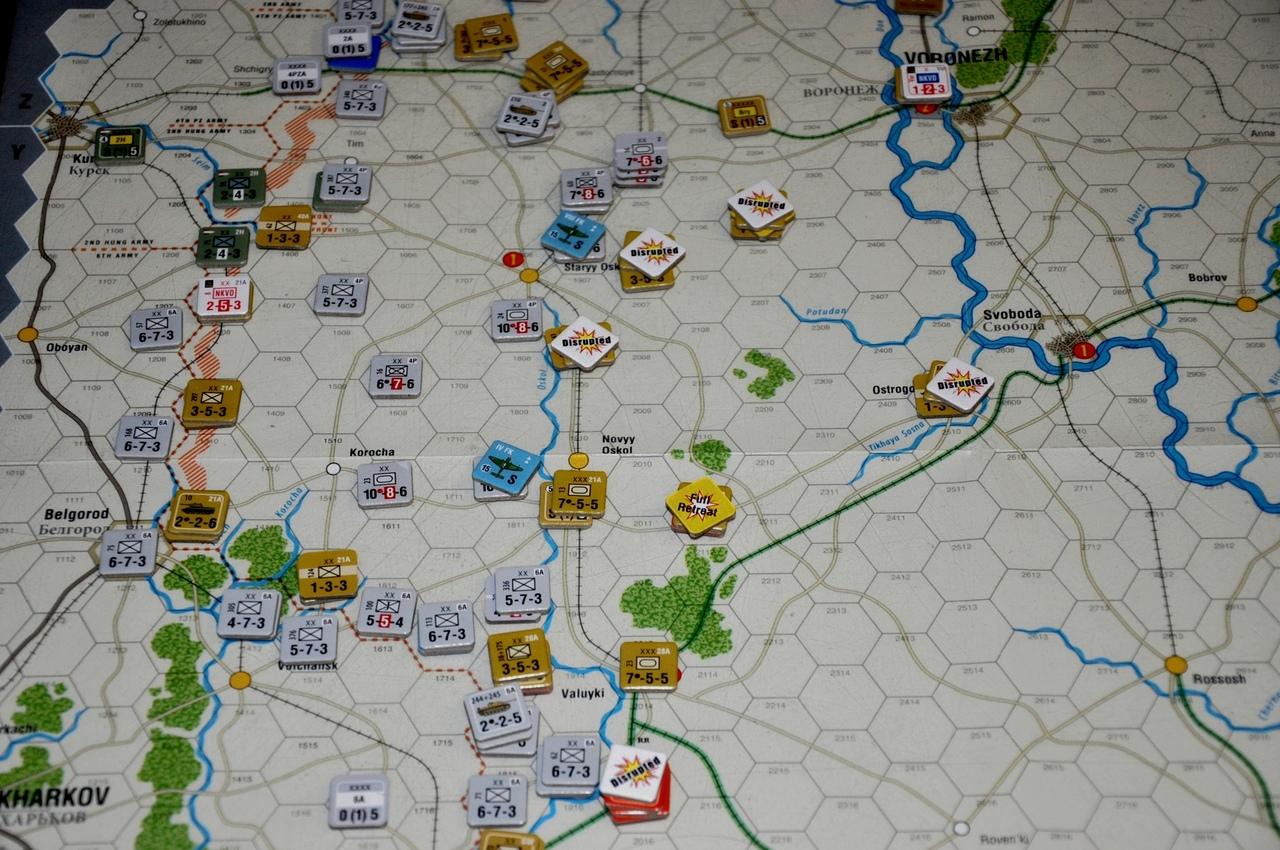 На следующем ходу нанесла удар 6 армия, которая также прорвала советские позиции