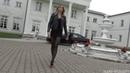 Super Legs - Flower Pantyhose - Leather Jacket , red high heels
