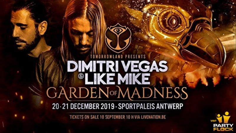 Dimitri Vegas Like Mike @ Garden Of Madness Day 2 Sportpaleis Antwerp Belgium