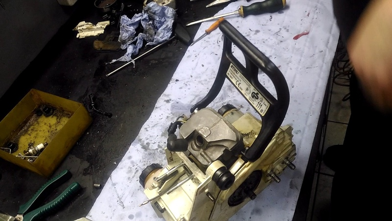 Stihl ms 180 ремонт сборка замена масляного шланга проверка карбюратора
