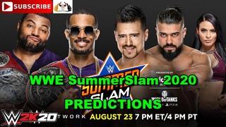 WWE SummerSlam 2020 Raw Tag Team Championship Street Profits vs. Andrade & Angel Garza WWE 2K20