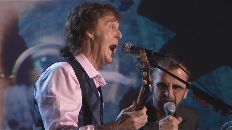 Paul McCartney Ringo Starr Jeff Lynne Joe Walsh Dave Grohl Annie Lennox Perform The Beatles