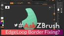 "AskZBrush: ""I have a mesh with partial edgeloops. Any tricks to make it go all the way around?"""