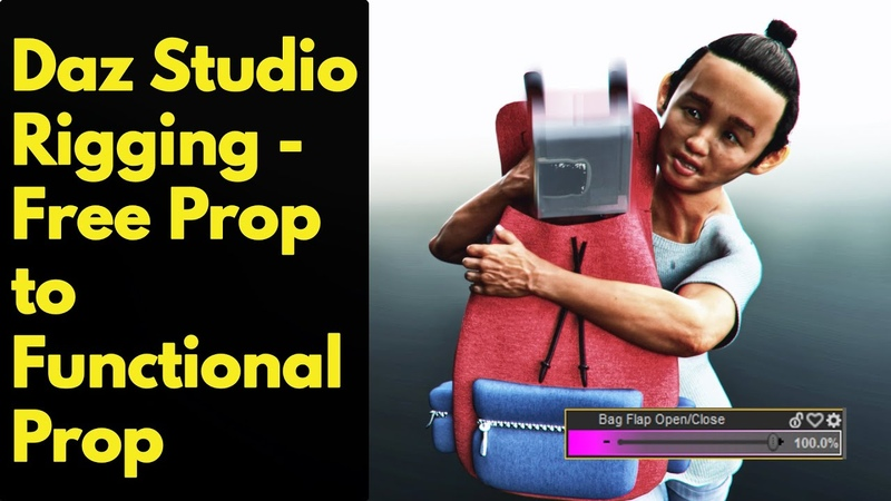 Daz Studio Rigging – Free prop to functional prop