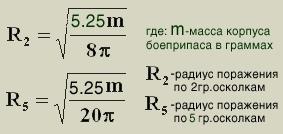 Расчет поражающих возможностей осколочных мин и гранат, изображение №8