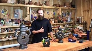 🍯 Как получается чёрная керамика Чернолощёный обжиг Обучение гончарству Волшебство керамики