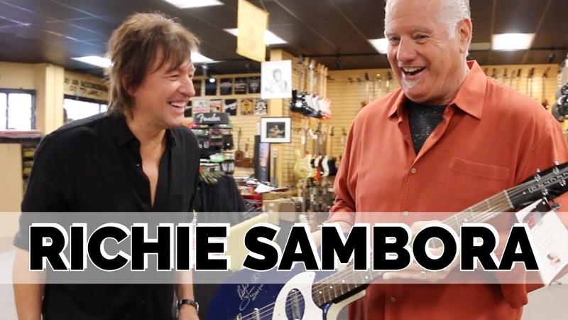 Richie Sambora signing guitars for Charity at Norman's Rare Guitars