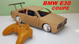 Cómo hacer un bmw e30 coupe de cartón con control remoto