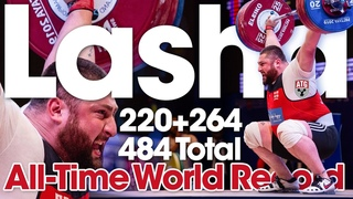Lasha Talakhadze 220kg Snatch 264kg Clean & Jerk Slow Motion All-Time World Record Total