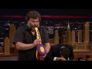 Jack Black Performs His Legendary Sax-A-Boom with .mp4
