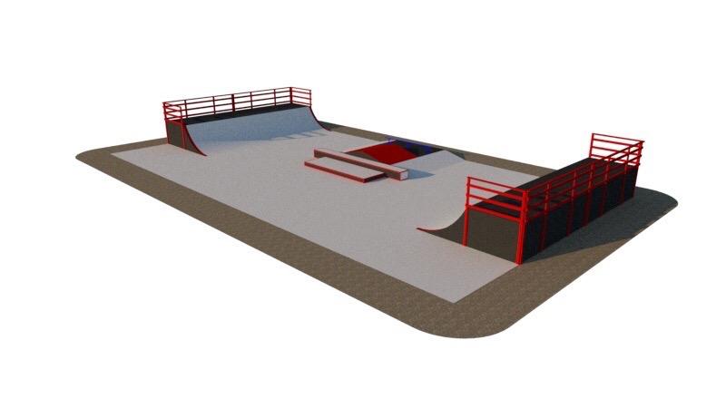 Проект скейт-парка в Осе.