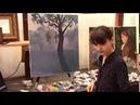 Пишем Дерево уроки живописи маслом для начинающих, художник Фания Сахарова