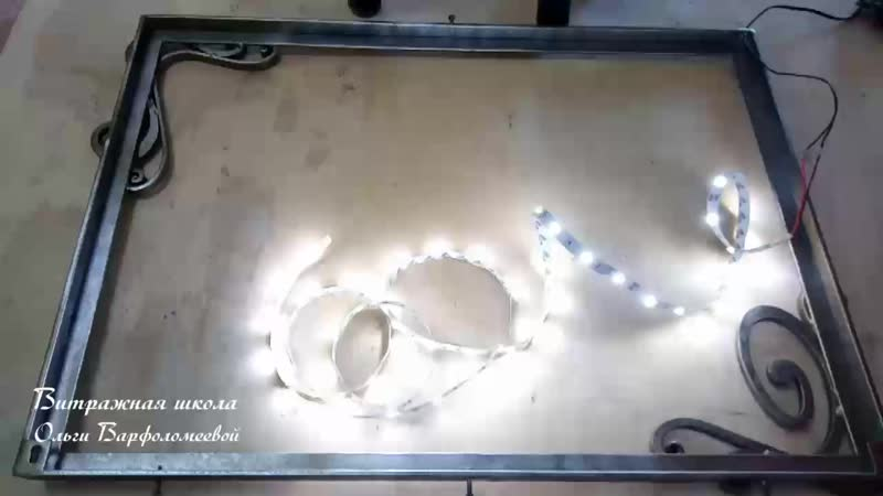 Монтаж картины на рамку с диодом
