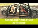 ⚡️ KARINA END YANA STUCK IN THE MUD / REVVING / PEDAL PUMPING / CAR DRIVING / BOOTS HEELS ⚡️