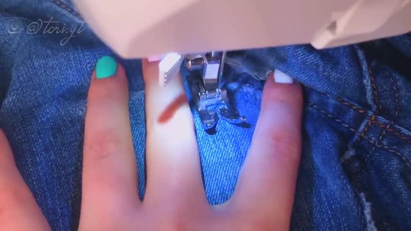 😳А что так можно было Лайфхаки с джинсами. Как зашить дырку на джинсах между ног чтоб не было видно