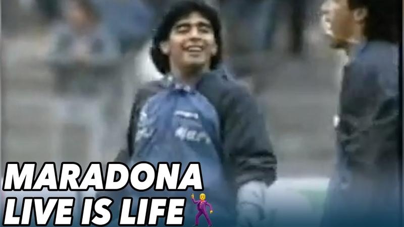 De legendarische warming up van Diego Maradona VOETBAL INSIDE