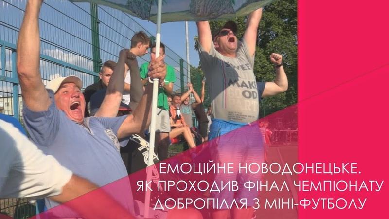 Фінал чемпіонату Добропілля з міні-футболу пройшов у Новодонецькому