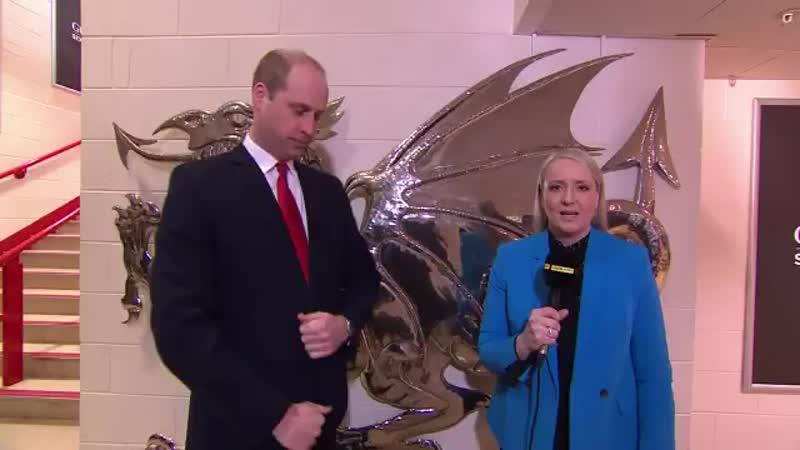 The Duke of Cambridge @WelshRugbyUnion Patron spoke to @BBCSport ahead of todays WALvIRE