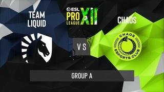 CS:GO - Team Liquid vs. Chaos [Mirage] Map 3 - ESL Pro League Season 12 - Group Stage - NA