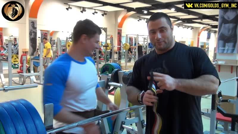 Обычная тренировка. Мужчина начинается от 100 килограммов!