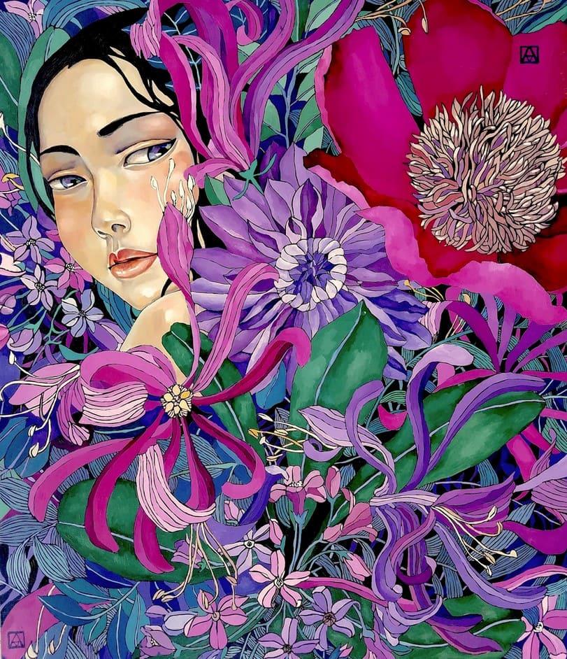 Живопись Акжаны Абдалиевой
