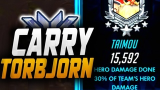 TAIMOU CARRY TORB! 15K DMG! POTG! [ OVERWATCH SEASON 16 TOP 500 ]