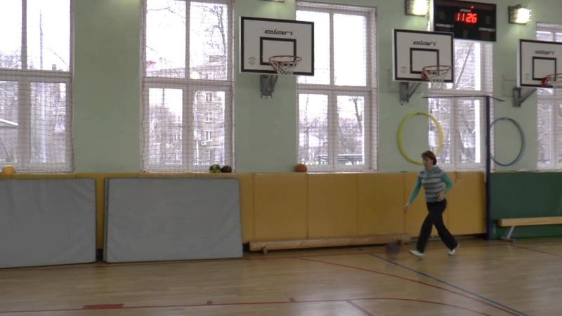 Техника броска с двух шагов с правой стороны в баскетболе