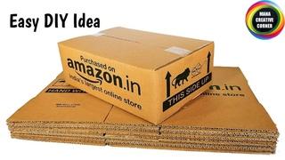 Easy DIY cardboard craft to decorate your room/Best way to reuse waste Cardboard/DIY organizer idea