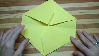 Взяла ОДИН Лист Бумаги и Сделала Классную Вместительную Коробку Звезду Для Подарка Без Клея