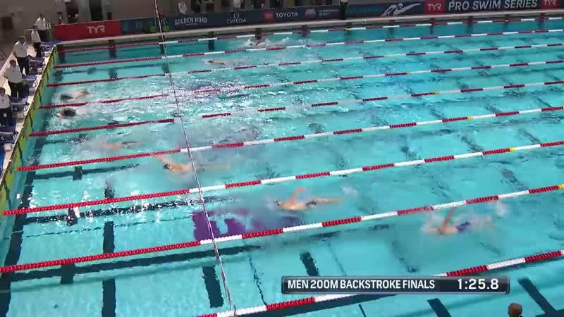 Men's 200m Back A Final _ 2019 TYR Pro Swim Series – Des Moines