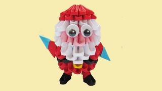 САНТА КЛАУС из модулей. Модульное оригами