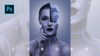 Cara membuat Manipulasi Robot / Cyborg dg Photoshop - Photoshop Tutorial Indonesia
