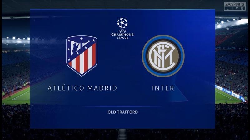 FIFA 20 Атлетико Мадрид-Интер Финал Лиги Чемпионов