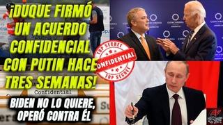 Colombia revela que hace 3 semanas firmó acuerdo confidencial con Rusia. Biden, distante con Duque.