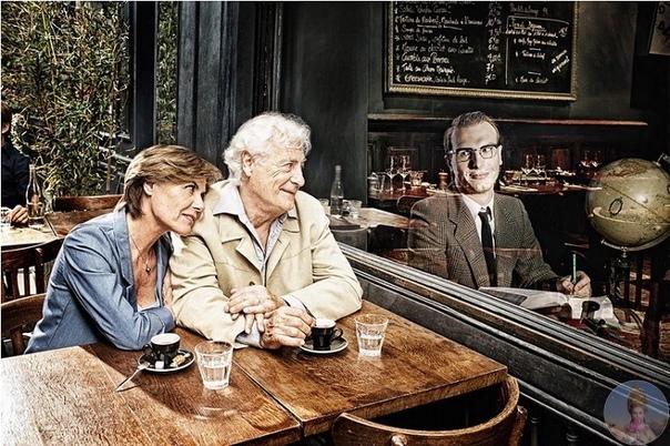 «Отражение прошлого» от Тома Хасси Фотографа вдохновил один из ветеранов Второй мировой войны, который сказал: «Не верится, что мне скоро исполнится 80. Я чувствую, будто только вернулся с