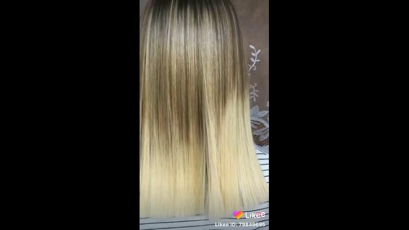👱🏻♀️ Кератиновое выпрямление для блондинки 👱🏻♀️