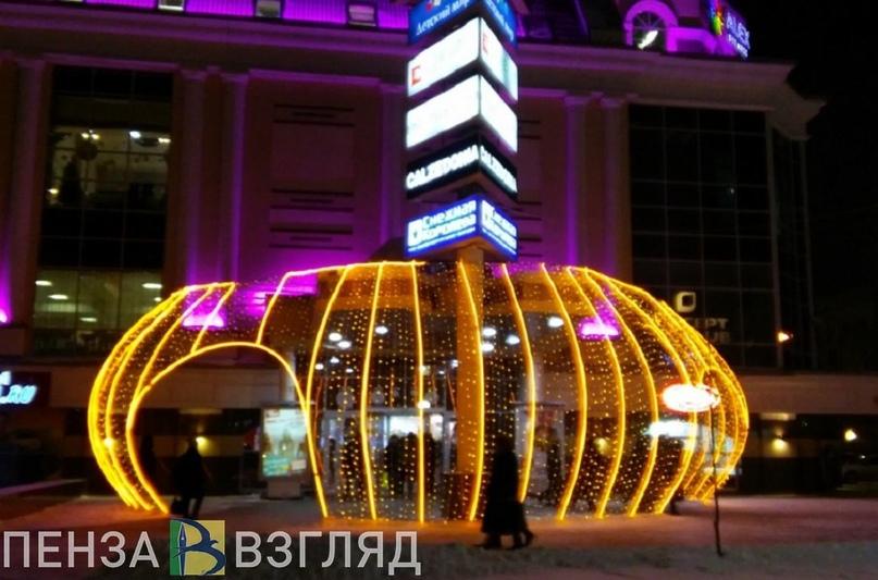 В Пензе приступили к подготовке новогоднего оформления города