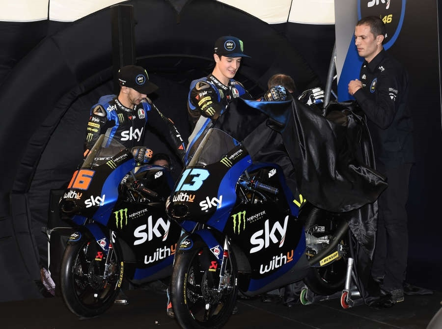 Презентация команды Sky Racing Team VR46 Moto2/Moto3 (фото)