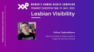 Polina Teploukhova editorial member of lesbian political magazine Vestnitsa, Russia